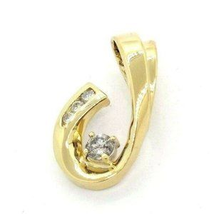 Womens 14K Yellow Gold Estate Diamond Solitaire
